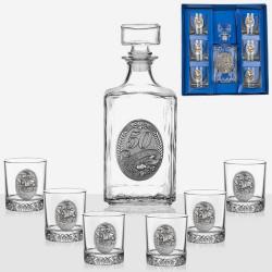 Сервиз за ракия бутилка+6 чаши  Artina