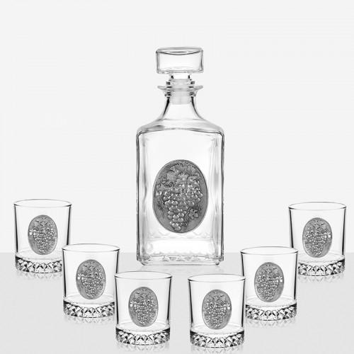 Сет бутилка грозде + 6 чаши грозд на супер цена от Neostyle.bg