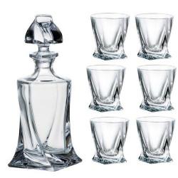 Сет бутилка+6 чаши за ракия Bohemia