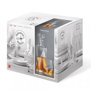 Комплект от 6 чаши за уиски с гарафа Cassiopea