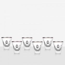 Сет за уиски сребърна плочка fusion