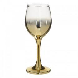 Чаши за вино със златно столче