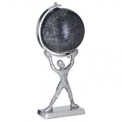 Арт фигура на човек с глобус