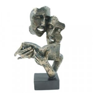 Арт статуетка Четящи Лица