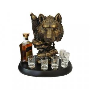 Декоративна поставка за бутилка Вълк