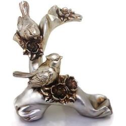 Декоративна фигура врабчета с поставка за вино