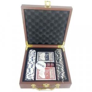 Покер сет в кожена кутия