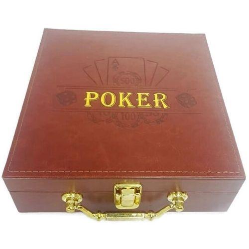 Покер сет в кожена кутия на супер цена от Neostyle.bg