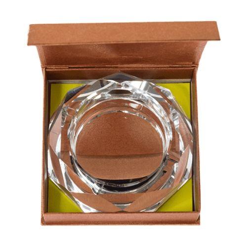 Стъклен пепелник 15 см бял на супер цена от Neostyle.bg