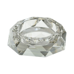 Стъклен пепелник 15 см бял