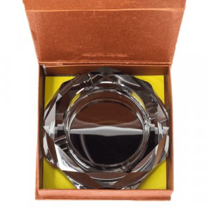 Стъклен пепелник 15 см черен