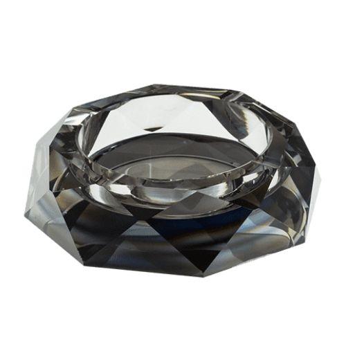 Стъклен пепелник 15 см черен на супер цена от Neostyle.bg