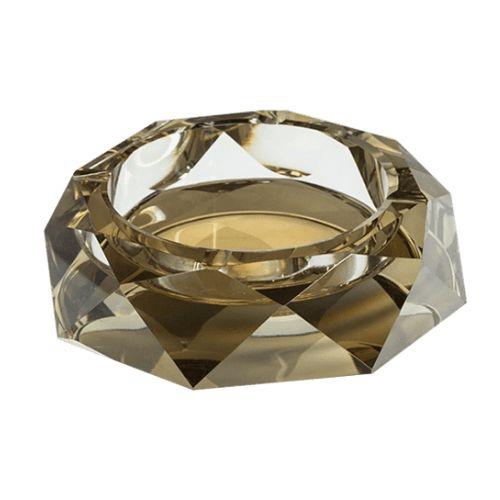 Стъклен пепелник 15 см златен на супер цена от Neostyle.bg