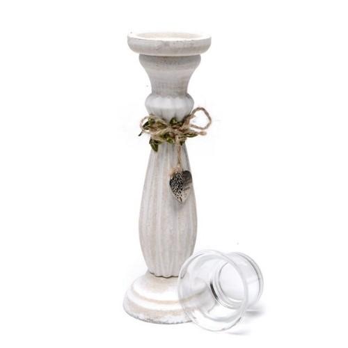 Дървен свещник-Висок на супер цена от Neostyle.bg